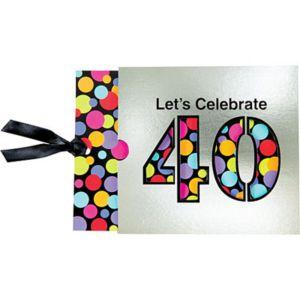40th Birthday Jumbo Invitations 8ct