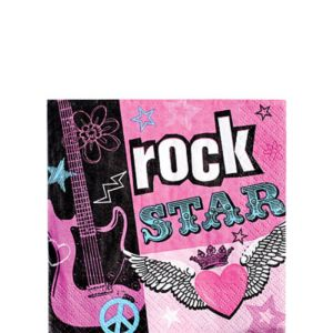 Rocker Girl Beverage Napkins 16ct