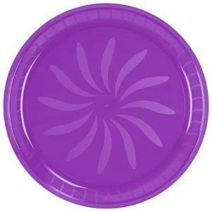Purple Plastic Swirl Platter