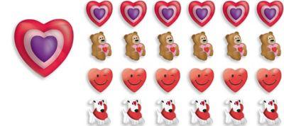 3D Valentine's Day Erasers 24ct