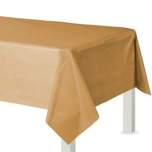 Gold Plastic Table Cover