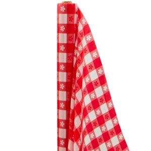 Big Party Pack Red Gingham Plastic Table Cover Roll