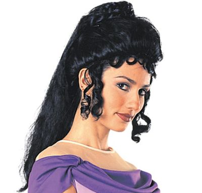 Greek Princess Black Wig