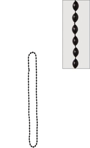 Metallic Black Bead Necklace