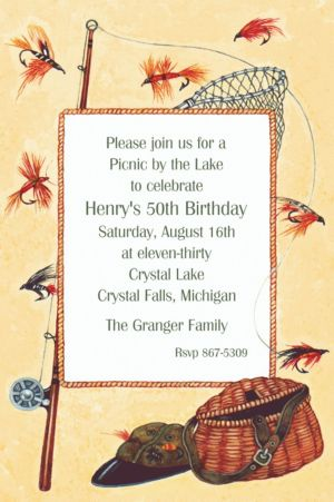 Custom Fly-Fishing Gear Invitations - Party City