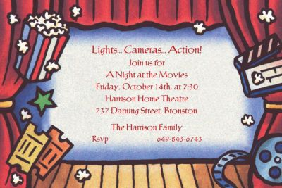 Custom Movie Theatre Invitations
