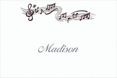 Custom Musical Notes Thank You Notes