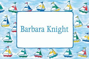 Custom Sailing Sailboats Baby Shower Thank You Notes