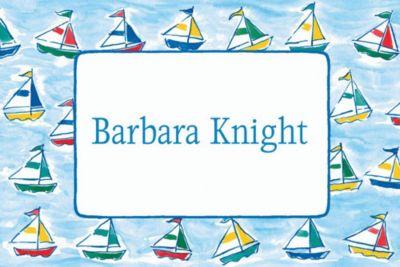 Custom Sailing Sailboats Baby Shower Thank You Notes