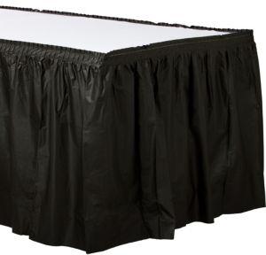 Black Plastic Table Skirt