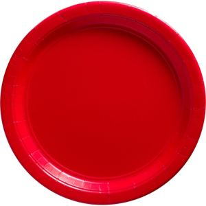 Red Paper Dinner Plates 20ct