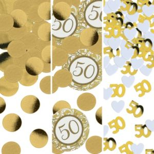 Golden 50th Anniversary Confetti