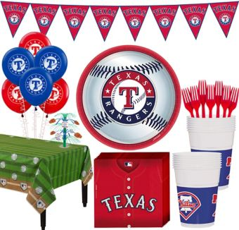 Texas Rangers Super Party Kit for 16 Guests