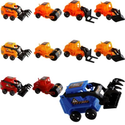 Pull Back Construction Vehicles 24ct