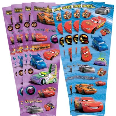 Cars Sticker Strips 8 Sheets