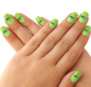 Seattle Seahawks Nail Tattoos 20ct