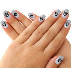 Oakland Raiders Nail Tattoos 20ct
