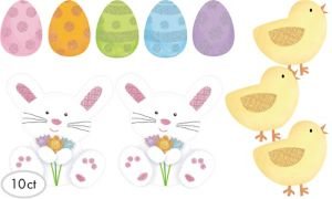 Glitter Easter Cutouts 10ct