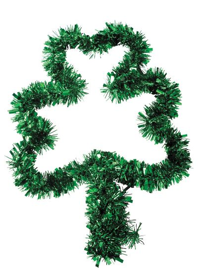 Tinsel Shamrock Wreath