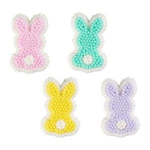 Easter Bunny Icing Decorations 12ct