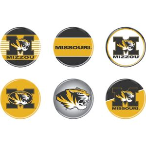 Missouri Tigers Buttons 6ct