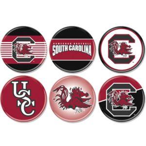 South Carolina Gamecocks Buttons 6ct