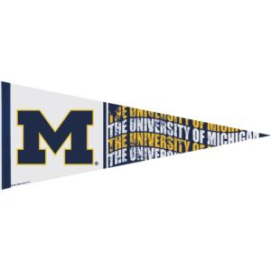 Michigan Wolverines Pennant Flag
