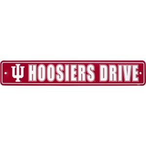 Indiana Hoosiers Street Sign