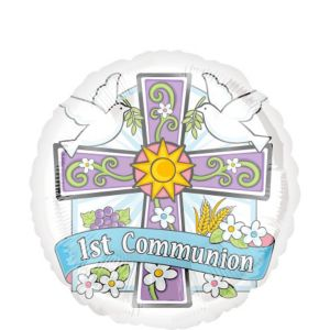 First Communion Balloon - Joyous Celebration
