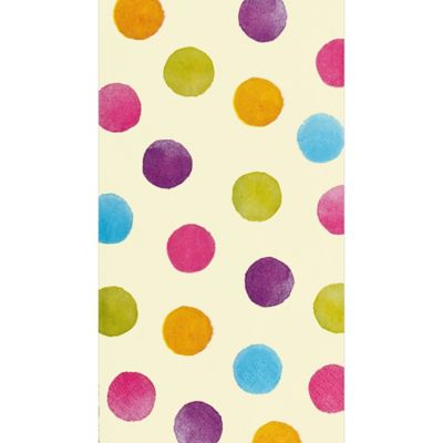 Watercolor Polka Dot Guest Towels 16ct