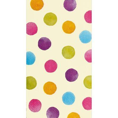 Watercolor Polka Dot Guest Towels 16ct