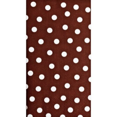 Brown Polka Dot Guest Towels 16ct