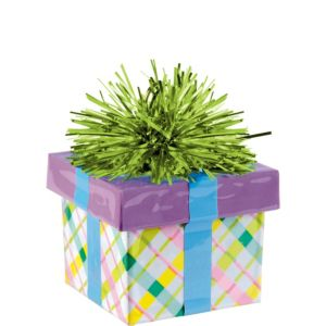 Plaid Gift Pack Balloon Weight 6oz