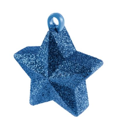 Bright Royal Blue Glitter Star Balloon Weight 6oz