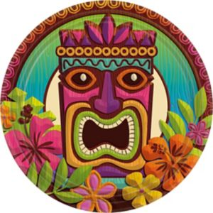 Tropical Tiki Lunch Plates 60ct