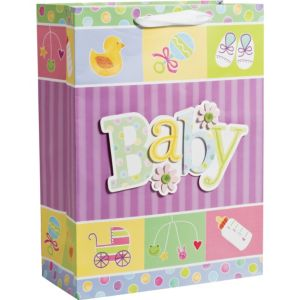 3D Happy Baby Shower Gift Bag