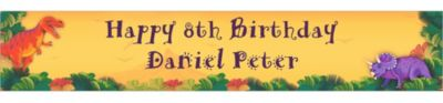 Custom Prehistoric Dinosaurs Birthday Banner 6ft
