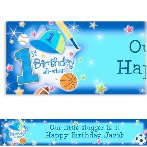 Custom All Star 1st Birthday Banner 6ft
