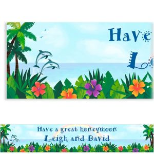 Custom Ocean View Luau Banner 6ft