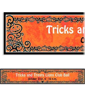 Custom Gothic Greetings Halloween Banner 6ft