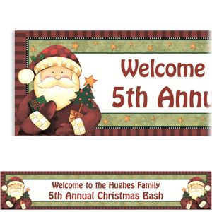 Custom Cozy Santa Banner 6ft