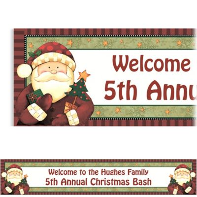 Cozy Santa Custom Christmas Banner