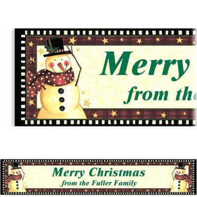 Cozy Snowman Custom Christmas Banner