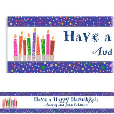 Hanukkah Playful Menorah Custom Banner