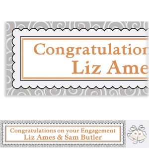 Custom Platinum Proposal Bridal Shower Banner 6ft