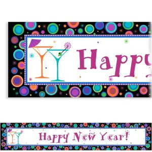 Custom Modern New Year's Banner 6ft