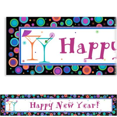 Modern New Year's Custom Banner