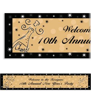 Custom Midnight Toast New Year's Banner 6ft