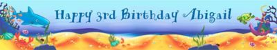 Custom Deep Sea Fun Banner 6ft