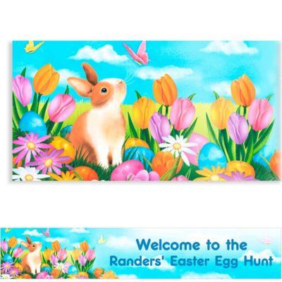 Garden Bunny Custom Easter Banner